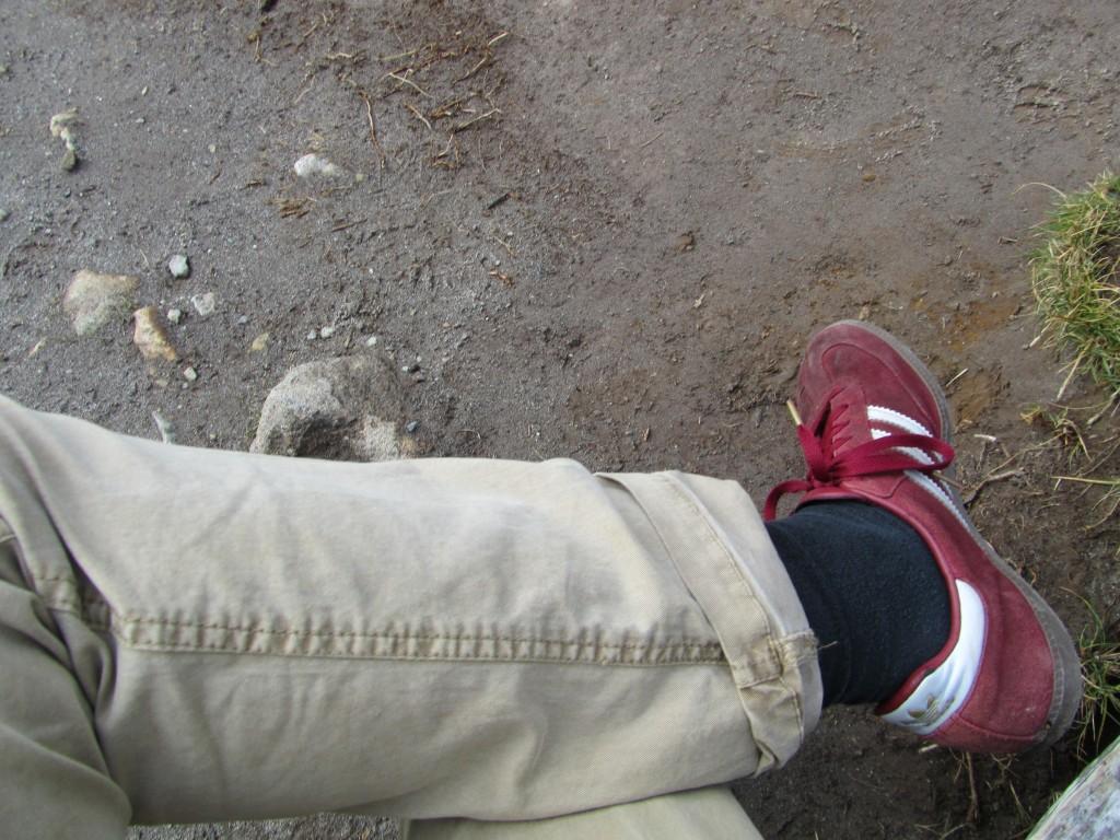Meine treuen Begleiter - die roten Adidas Sambas. Aber ob die mich auch auf den Fitz Roy tragen würden? Oder zumindest nahe hin?