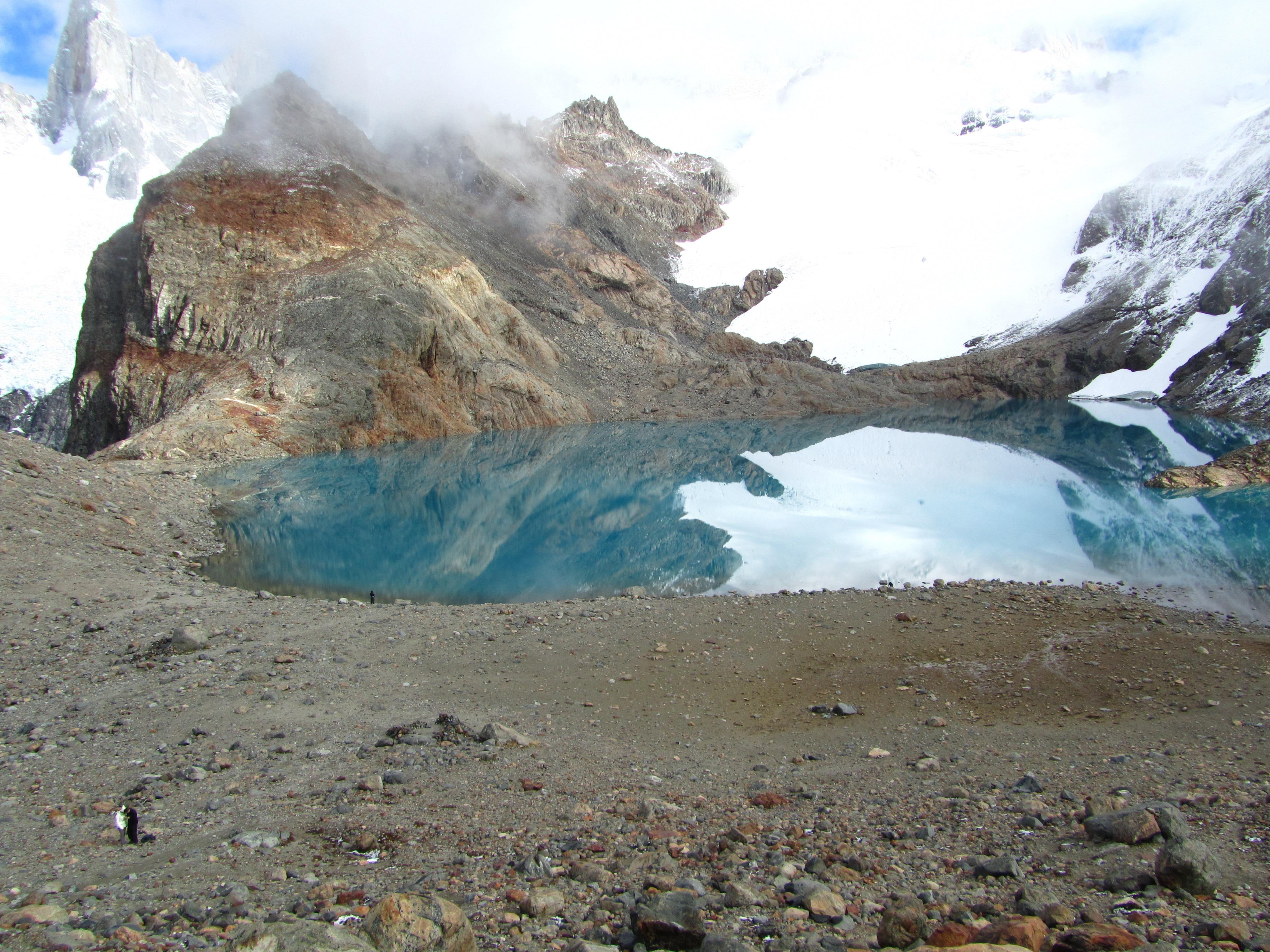 Dafür lohnt sich das dann halt auch alles. Der Gletschersee oben am Fuße des Fitz Roy.